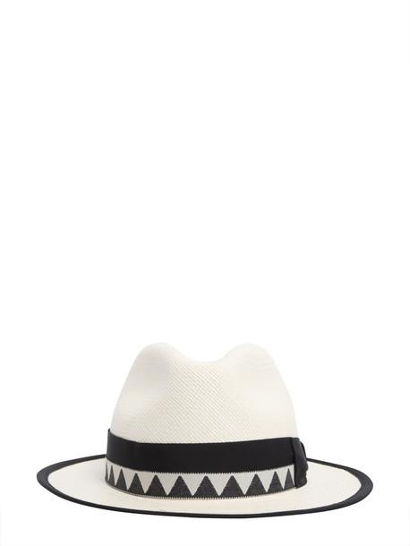1cac10b95773 Borsalino Medium Brimmed Panama Quito Jacquard Hat - Wheretoget