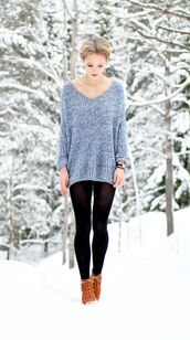 sweater,oversized,textured,knit,tights,light blue,blue,girly,Choies