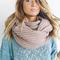 Chunky tan infinity scarf