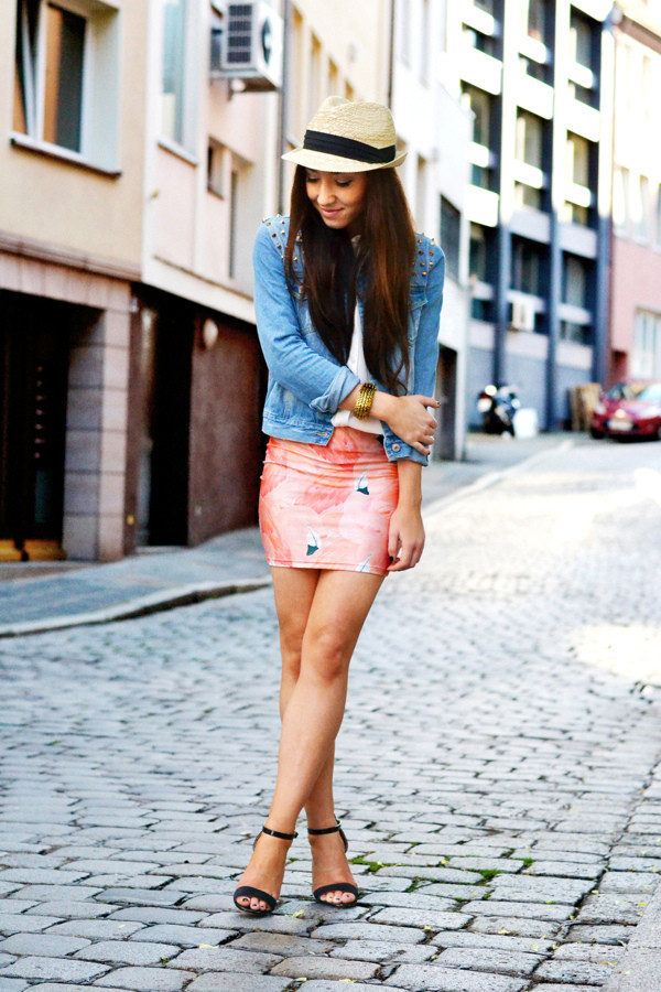 flirting with fashion jacket blouse skirt shoes hat
