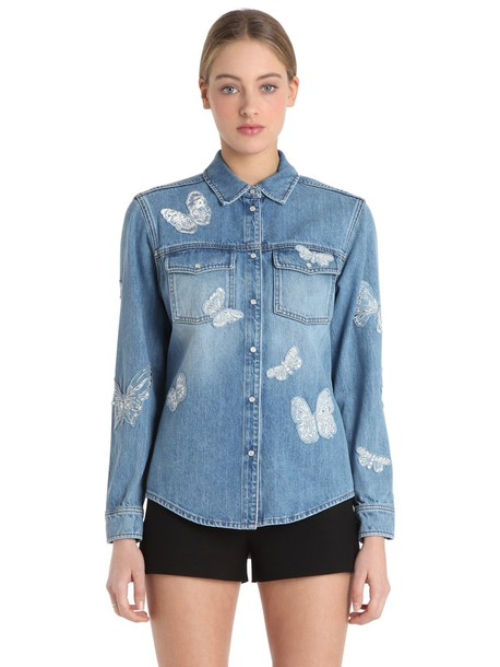 jacket denim jacket denim butterfly