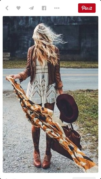 dress boho pretty girl girly autumn fasion white dress