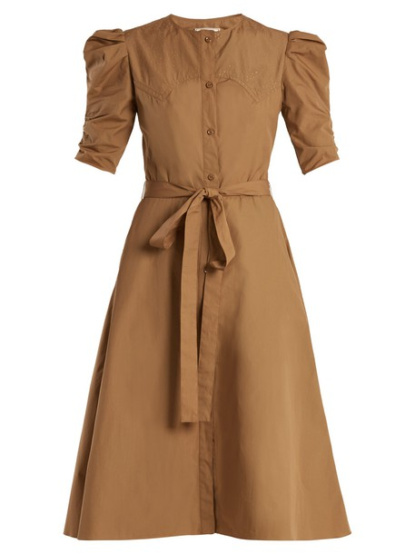 NINA RICCI dress cotton khaki