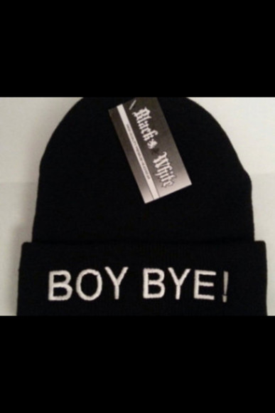 hat boy bye beanie hip swag black hood lol omg girlz omg cute hot cold trill thug tupac psc pac bitch boy bye beanie