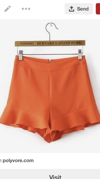 shorts orange neon orange shorts