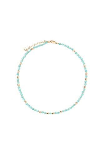 jewels necklace choker necklace beaded beaded necklace beaded choker gold turquoise