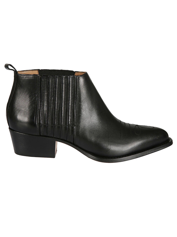 Buttero Elasticated Ankle Boots in nero