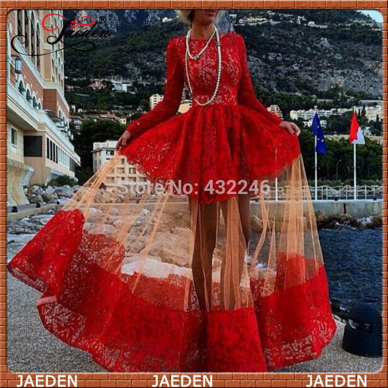 Aliexpress.com : buy scd026 новое поступление 2014 красный платье выпускного вечера модные длинные рукава vestido де феста кружева вечернее платье from reliable платья мода