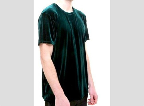 110944c3 t-shirt, velvet, royal green, unique top, velvet shirt, green, women ...