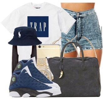 shirt white t-shirt trap trap shirt