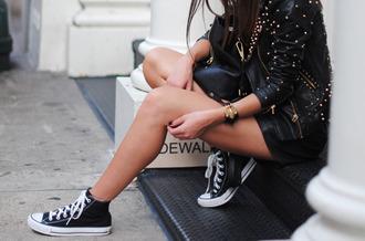jacket leather jacket studs black leather jacket black jacket studded jacket golden studded jacket