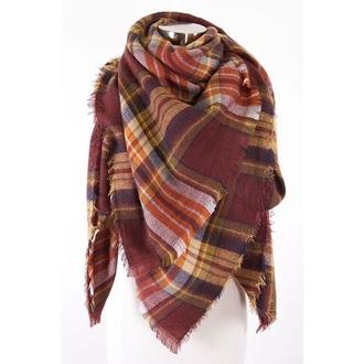 scarf fall outfits long warm tartan scarf