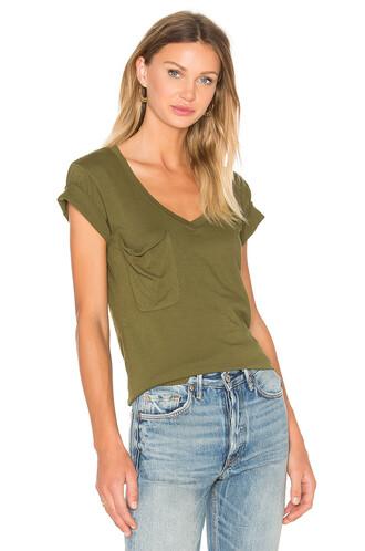 v neck light green top