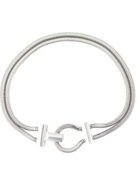 Lara Bohinc metal women necklace grey metallic jewels