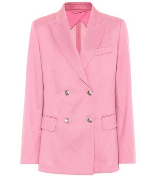 Max Mara Exclusive to mytheresa.com – Galazia wool twill blazer in pink