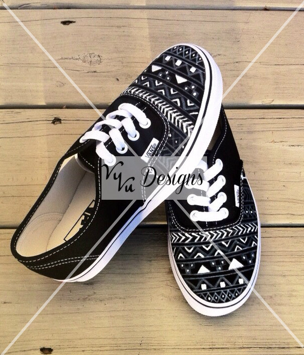 Black aztec/tribal vans
