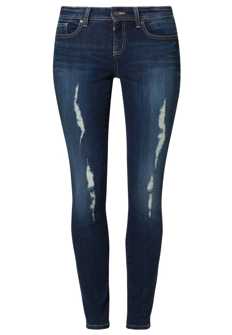 Even&Odd Jeans Slim Fit - destroyed denim - Zalando.de