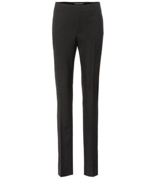 Saint Laurent Wool crêpe trousers in black