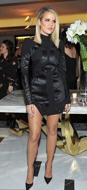 dress,mini dress,pumps,khloe kardashian,little black dress,turtleneck dress,turtleneck