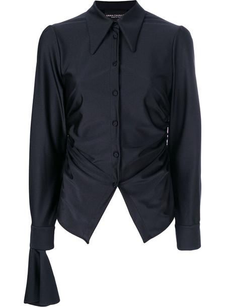 Erika Cavallini blouse women spandex black top