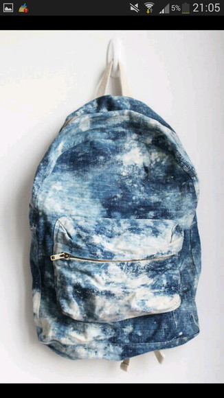 bag backpack tumblr backpack acid wash