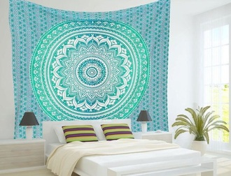 home accessory blue tapestry tapestry
