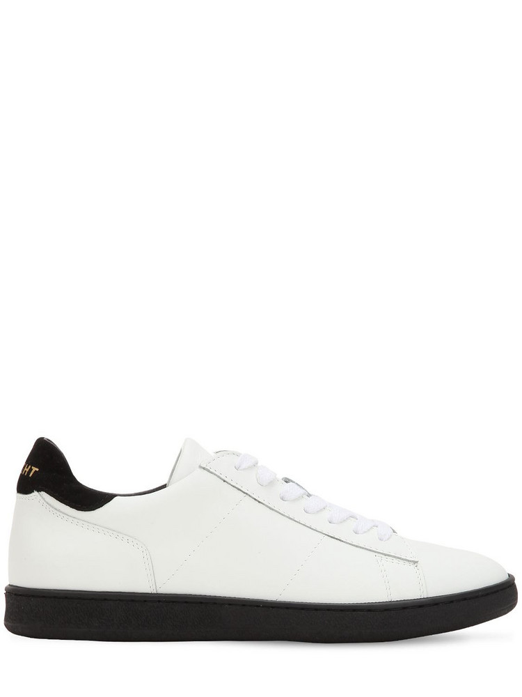 ROV Leather Low Top Sneakers in black / white