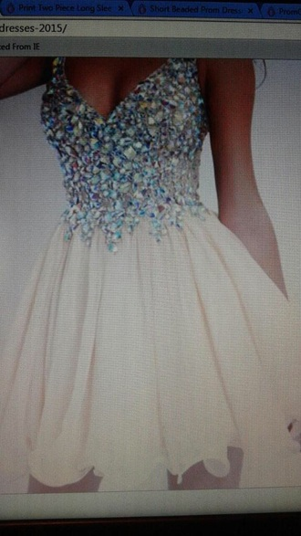 dress homecoming cream dress