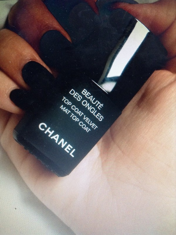 nail polish chanel black matte