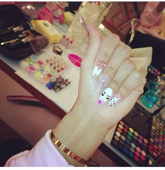 nail accessories white nails glitter nails blac chyna