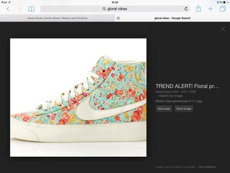 shoes floral shoes girly shoes floral limited edition big feet nike