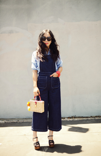 hallie daily blogger shirt shoes bag scarf sunglasses