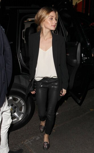 pants top jacket fall outfits olivia palermo