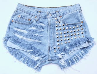 shorts jeans ripped shorts dress underwear high heels sweater top hat studded shorts studded shortss