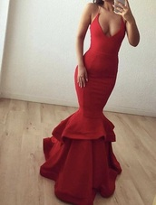 dress,brand,help i need this dress,ruffle,mermaid,red dress,prom dress,mermaid prom dress