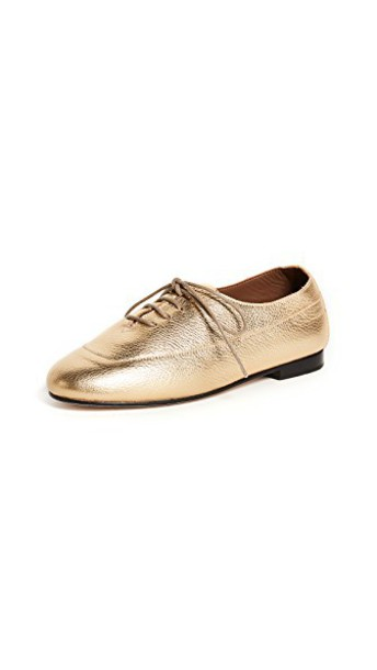 NewbarK oxfords metallic shoes
