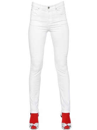 jeans denim fit cotton white