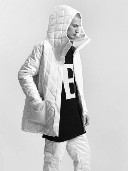 black style white jacket top fashion menswear streetwear