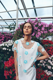 top,floral,flowers,white,blue,mesh,shirt,crop tops,transparent,overlay,see through