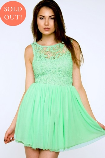 Green Crochet Dress- $79