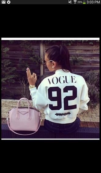 jacket white jacket bag light pink purse