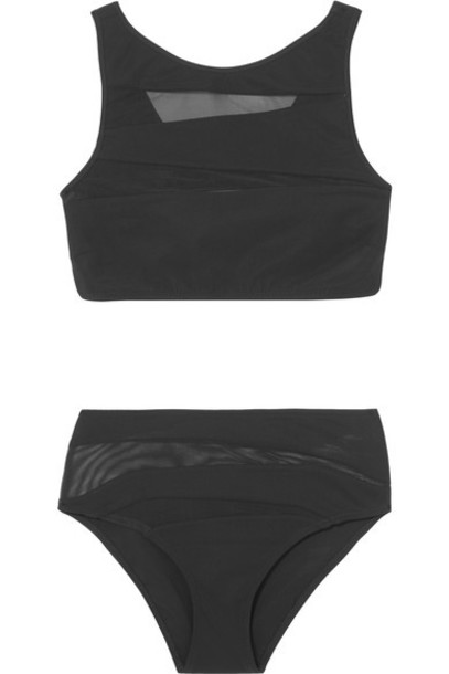 Emma Pake bikini mesh black swimwear