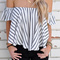 Haley off the shoulder striped blouse · kiss my fash · online store powered by storenvy