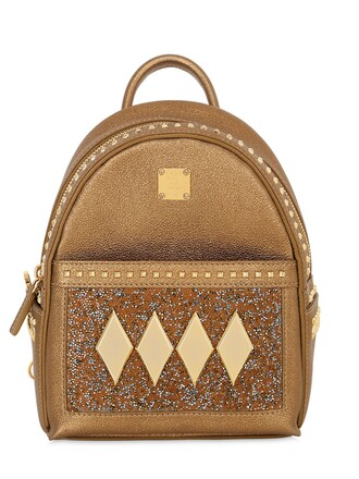 backpack leather backpack leather gold bag