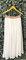 White boho hippie chiffon long skirt with embroidered waist, handmade long skirt, maxi chiffon skirt, maxi skirt, vintage maxi skirt (s/xl)