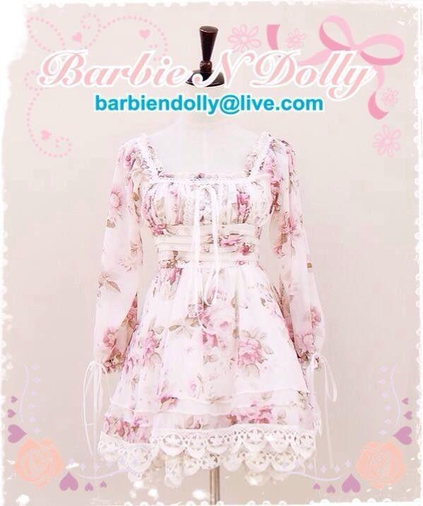 Liz Lisa Lena Catwalk Version Fairy Rose Floral Chiffon Dress