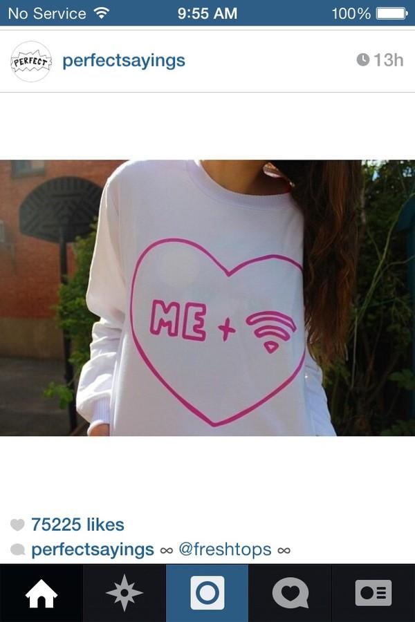 sweater white sweatshirt pink hair