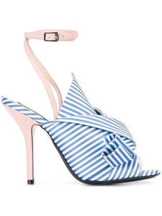 women sandals leather blue silk shoes