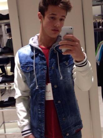 jacket cameron dallas menswear denim jacket