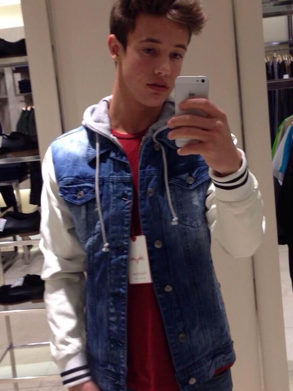 Jacket Cameron Dallas Denim Jacket Menswear Denim
